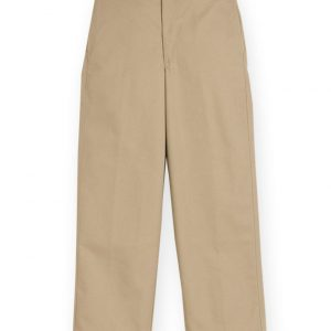 Boy's Khaki Plain Front Pant-0