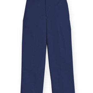 Boy's Navy Plain Front Pant-0