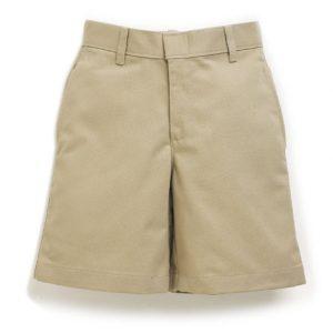 Girls Khaki Plain Front Short-0