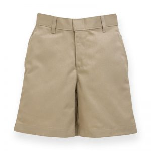 Boy's Khaki Plain Front Short-0
