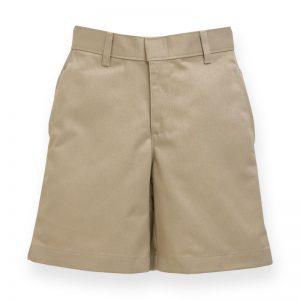 Men's Khaki Plain Front Short-0