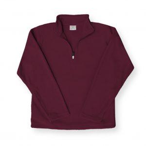Maroon Half-Zip Fleece with University Academy Logo-0