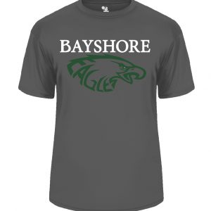 Charcoal Grey Performance T-Shirt with Bayshore Eagles Logo-0