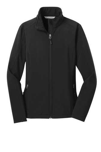 Port Authority® Ladies Core Soft Shell Jacket with Cardiology Associates Logo-0