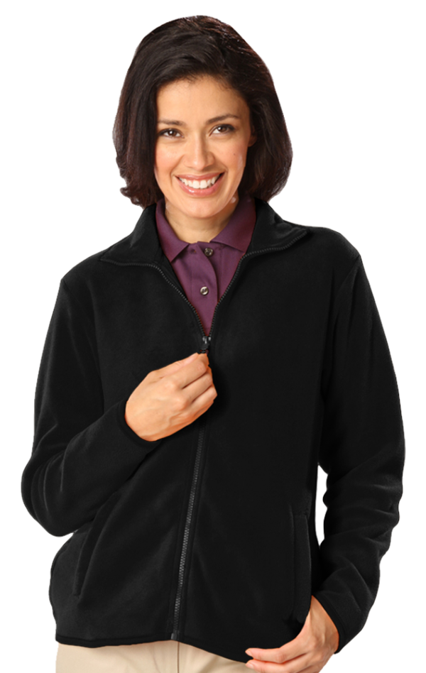 Ladies' Micro Fleece Full Zip Jacket with Cardiology Associates Logo-0
