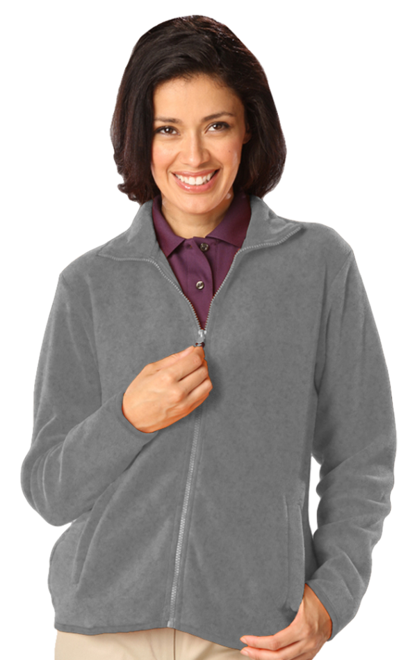 Ladies' Micro Fleece Full Zip Jacket with Cardiology Associates Logo-4839