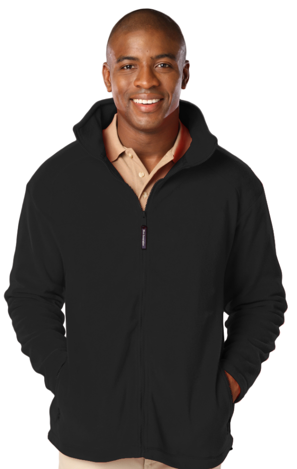 Men's Micro Fleece Full Zip Jacket with Cardiology Associates Logo-0