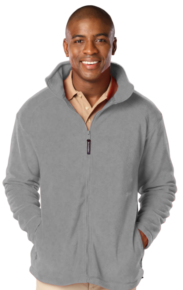 Men's Micro Fleece Full Zip Jacket with Cardiology Associates Logo-4845