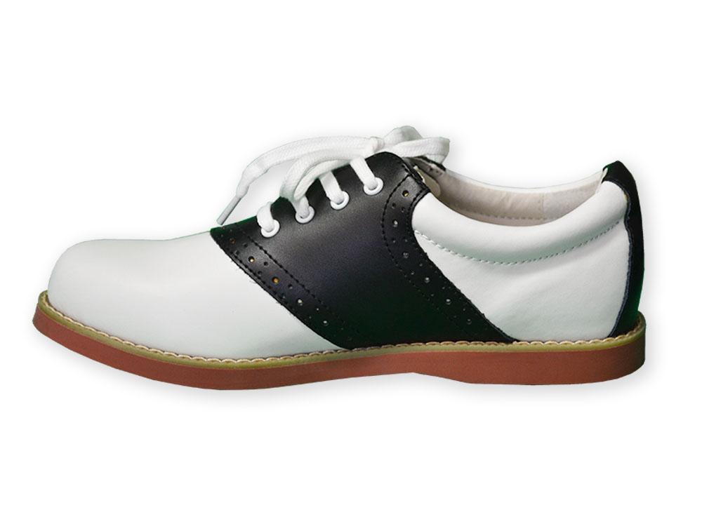Black \u0026 White Cheer Saddle Shoe