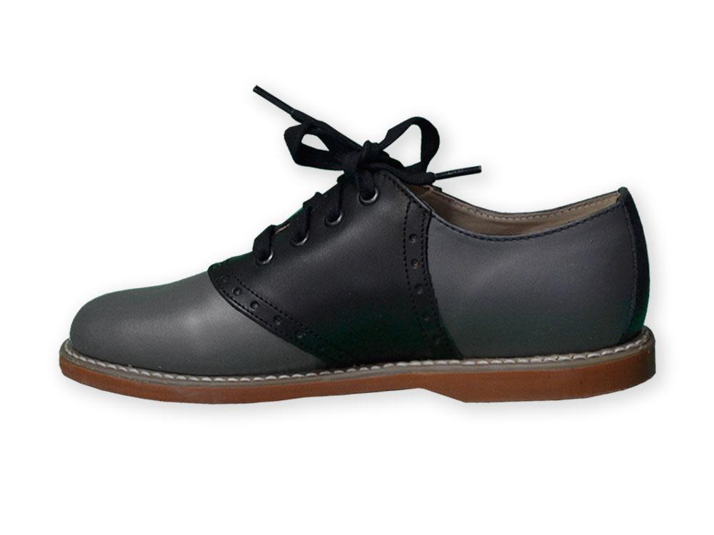 Black \u0026 Grey Leather Saddle Oxford