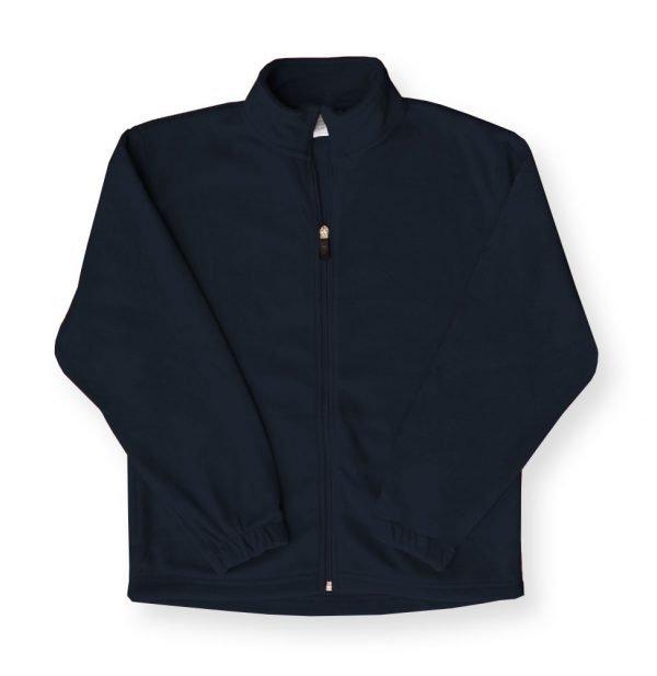 Navy Full-Zip Fleece with Government St. Logo-0